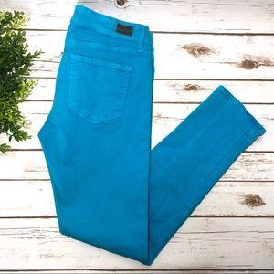 PAIGE Jeans Skyline Ankle Peg Blue Skinny Pants